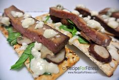 Steak and Bleu Cheese Flatbreads - clean and healthy recipe