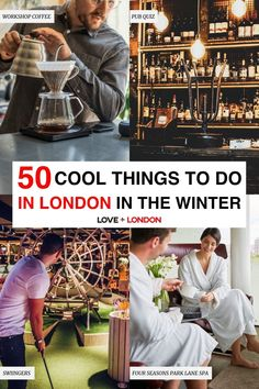 Fun activities to do in London when it's too cold to be outside. Classes and workshops to do, tours that are winter-proof, indoor sports and activities and more ideas for what to do in London in the winter.