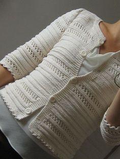 (notitle) Gilet Crochet, Crochet Cardigan Pattern, Knitting Patterns, Knit Crochet, Ravelry, Stockinette, Knit Jacket, Lace Knitting, Knitting Tutorials