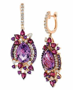 Le Vian 14k Rose Gold Earrings, Multistone Drop Earrings