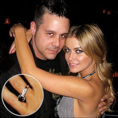 Carmen Electra black diamond Engagement ring