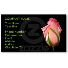 Pink Rosebud Business Cards by birdersue from Zazzle - Digital photography and design by Sue Melvin