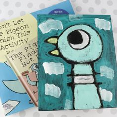 Pigeon Craft for Kids! Don't Let The Pigeon Steal Your Paintbrush! Informations About Mo Willem's Pi Mo Willems, Fun Craft, Art N Craft, Art For Kids, Crafts For Kids, Best Drawing For Kids, Pigeon Craft, Pigeon Books, Classe D'art
