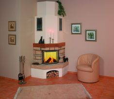 Newest Free Corner Fireplace gas Ideas Corner fireplaces offer myriad benefits to folks with gathering rooms great or small. White Corner Electric Fireplace, Corner Gas Fireplace, Home Fireplace, Living Room With Fireplace, Fireplace Design, Home Living Room, Fireplace Ideas, Fireplace Mantels, Pastel Living Room