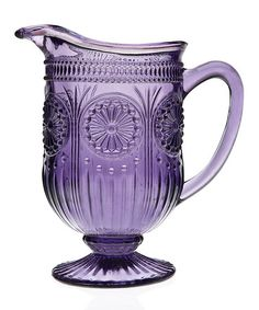 I love the purple on this pitcher! Too bad none of my dishes are purple! Take a look at this Amethyst Florentine Pitcher by Godinger on #zulily today!