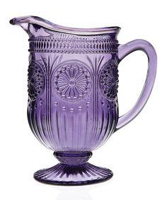 ♔ Lavender Cottage: #Lavender ~ Amethyst Florentine Pitcher, by Godinger.