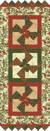 Red Rooster Quilts: Shop | Category: Patterns - Download for FREE | Product: Woodland Holiday Downloadable Bed Runner and Table Runner Patterns