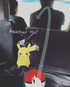 Pues nos salió un Pikachu en el camino #pikachu #pokemongo