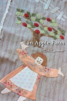 Patchwork Pink Caramel-farmer's wife border