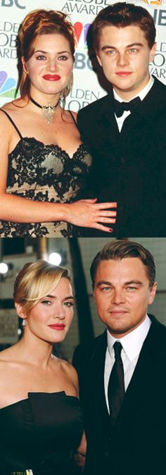 Kate Winslet and Leonardo DiCaprio then and now. Loved them in Titanic! Leonardo Dicaprio, Pretty People, Beautiful People, Kate Winslet And Leonardo, Leo And Kate, Like Fine Wine, Star Wars, Actrices Hollywood, Cinema