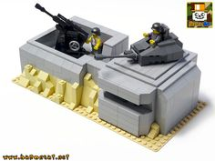 https://flic.kr/p/nAiYLX | GERMAN FLAK & TURRET BUNKER | The protoype for a new WW2 model for my shop. Comments and opinions are welcome.