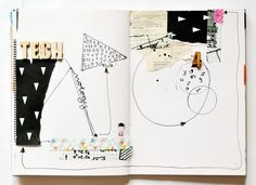 I like the simplicity of this journal entry.  The drawings, papers, and embellishments really compliment each other.