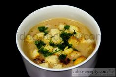 Recept Luxusná hrachová polievka - hrachová polievka - návrh na servírovanie
