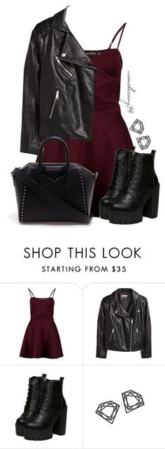 """""""Rock Chick"""" by avonsblessing94 ❤ liked on Polyvore featuring Boohoo, H&M, Myia Bonner and Givenchy"""