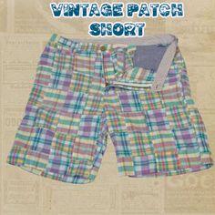 Vintage Patch Short,  100% pure cotton