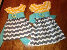 The Urge to Organize: Chevron Easter Dress- The More Frugal Way