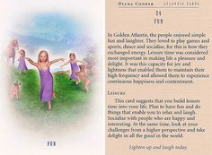 Today's Atlantis Card – Diana Cooper Animal Spirit Guides, Spirit Animal, Diana Cooper, Daily Tarot, Doreen Virtue, Divine Light, Star Children, Angel Cards, Oracle Cards