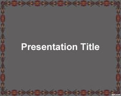 This attractive background for PowerPoint has an old frame with dark color and you can use this attractive template for Power Point presentations in a variety of topics