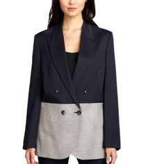 """STELLA McCARTNEY JACKET! STUNNING! I CANT. NWT!!!! I CRAVED this Jacket. I kept returning to the posher. It's a 44. Meant to be oversized. Then I splurged. REALLY splurged. Now. THIS IS IMPORTANT: if u are 80 pounds or 200 pounds you will KILL! BUT you MUST be over 5'5"""". period. It won't hit you right unless you are 5'5"""" or over. If you ARE, your weight or body type DONT MATTER, you'll look GAMINE. FAB. If you are UNDER 5'5"""" you'll look like the chubby kid who went out to dinner with her dad…"""