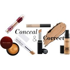 Favorite Concealers by fashionoversense on Polyvore featuring beauty, Kevyn Aucoin, Dermablend, NARS Cosmetics, MAC Cosmetics and Maybelline