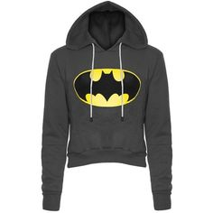 Womens Ladies Batman Stretch Fleece Full Long Sleeve Crop Cropped... ($9.12) ❤ liked on Polyvore featuring tops, hoodies, sweatshirts, jackets, sweaters, shirts, sweatshirt, cropped hoodie sweatshirt, fleece shirt and cropped hoodies