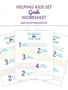 Printable Worksheets For Back To School Goal Setting  Goals