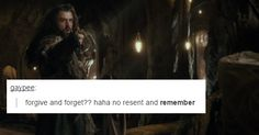 Yes, I have an agenda. Living. Thorin