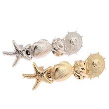 Estrella de mar concha océano estilo Gold / Silver Tone Hairband jefe del Clip accesorios para el cabello joyería CF143(China (Mainland))