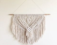 Macrame Wall Hanging CHEVRONS 100% Cotton by ButtermilkDesignCo