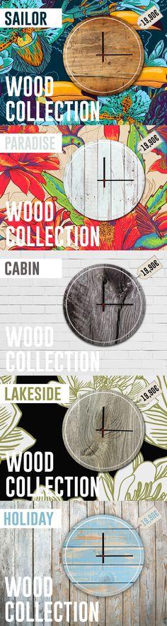 Woodclock collection! La collezione di orologi made in Youface! Stampa HD su forex 5mm con effetto legno!