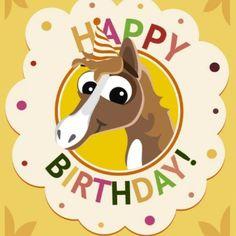 Cumpleaños tarjeta de felicitación del caballo