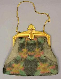 Whiting and Davis Fine Colored Mesh Evening Bag - Couture and Textiles   Doyle Auction House