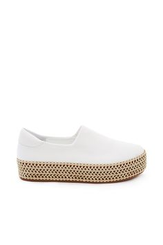 OPENING CEREMONY CICI WRAP PLATFORM SLIP-ONS - WHITE. #openingceremony #shoes #all