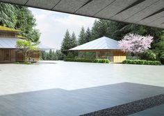 Image 6 of 15 from gallery of Kengo Kuma Designs Cultural Village for Portland Japanese Garden. Photograph by Kengo Kuma & Associates Japanese House, Japanese Style, Portland Garden, Portland Japanese Garden, Kengo Kuma, Timber Architecture, Amazing Architecture, Villas, Japanese Gardens