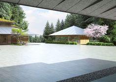 Kengo Kuma Designs Cultural Village for Portland Japanese Garden,Tateuchi Courtyard from Garden House. Image © Kengo Kuma & Associates
