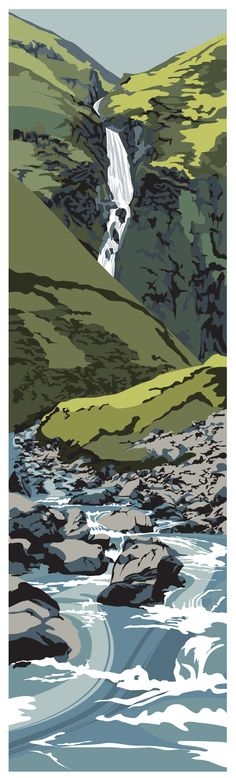 The Grey Mare's Tail Dumfries & Galloway www.ianmitchell-art.com/index.php/latest-news