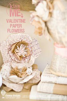 idea no. 8: Valentine paper flowers template
