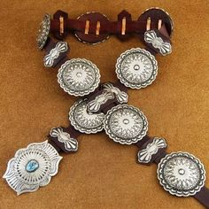 Navajo Indian Jewelry Turquoise Silver Native American Concho Belt. http://www.nativeamericanstuff.net/Native%20American%20Concho%20Belts.htm