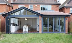 How to add a single storey extension kitchen extension with glazing from Origin Orangerie Extension, Conservatory Extension, Conservatory Kitchen, Orangery Extension Kitchen, Modern Conservatory, Conservatory Interiors, House Extension Plans, House Extension Design, Extension Designs