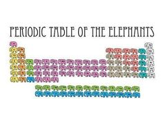 Periodic Table of the Elephants. See.. .this made me smile.  How can elephants NOT make you smile.