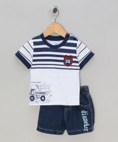 Just Too Cute tractor jean shorts and T-shirt (custom sized) Trendy Boy Outfits, Boys Summer Outfits, Baby Boy Outfits, Kids Outfits, Boys And Girls Clothes, Newborn Boy Clothes, Short Niña, Baby Boy Hairstyles, Baby Suit