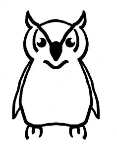 Owl Outline Free Stock Photo - Public Domain Pictures
