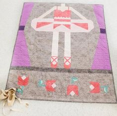 Be a Ballerina Quilt Pattern by Bee Sew Inspired | Fabric: Shades Basics from Riley Blake Designs