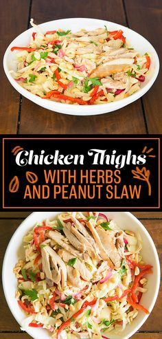 THURSDAY: Chicken Thighs with Herbs and Peanut Slaw | 5 Delicious Low-Carb Dinners For Under $50