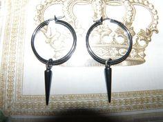 Spiked hoop earrings by Truetomyselfjewelry on Etsy