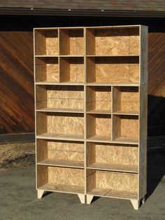 modular osb bookcase cubbies mix and match in Boulder, Colorado ~ Krrb Classifieds Plywood Furniture, Diy Furniture, Furniture Design, Rustic Furniture, Modern Furniture, Chipboard Interior, Osb Wood, Clearance Outdoor Furniture, Plywood Projects