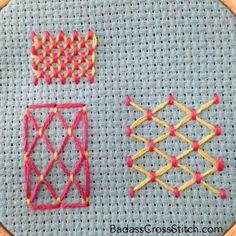 Badass Cross Stitch cloud filling embroidery stitch tutorial