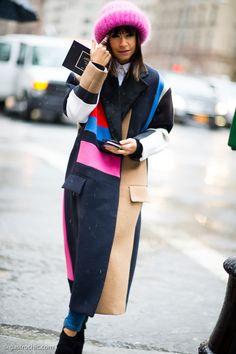 Miroslava Duma at Jason Wu #streetstyle #fashion on http://www.gastrochic.com