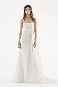 8864c6367e99 Extra Length Lace White by Vera Wang Tank Mermaid Wedding Dress - Ivory, 2  Wedding