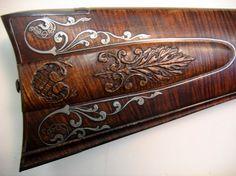 Silver Wire Tutorial Part 5 Wood Carving Designs, Wood Carving Art, Flintlock Rifle, Black Powder Guns, Laser Cutter Projects, Wire Tutorials, Rifles, Long Rifle, Gun Art